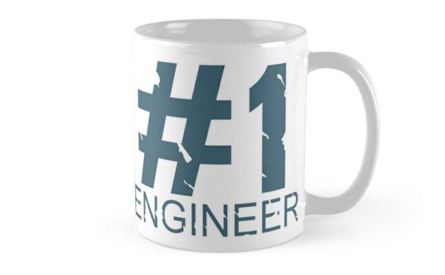 Engineer Mug Design (BLU) by Ilona Iske