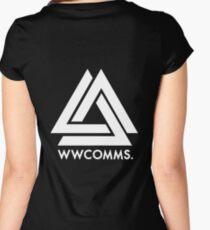 Bastille - 'WWCOMMS.'  Women's Fitted Scoop T-Shirt