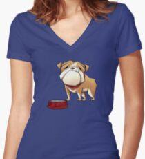 Left-Right : The Mansion // Gigi Women's Fitted V-Neck T-Shirt
