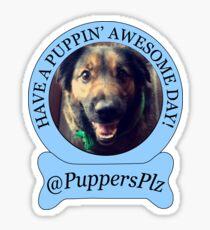 PuppersPlz Sticker Sticker