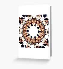 Uncle Sam Pointing Finger Kaleidoscope Pattern Greeting Card