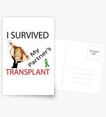 Survived my Partners Transplant Postcards