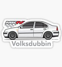 MK4 White Jet Sticker