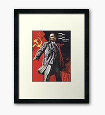 Lenin poster 1967 Framed Print