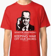 Camiseta clásica Campaña Presidencial del Senador Armstrong - Metal Gear Rising: Revengeance