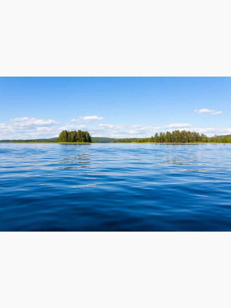 Finland lake scape at summer by Juhku