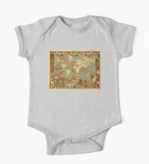 Antique Map of the World Vintage Kids Clothes