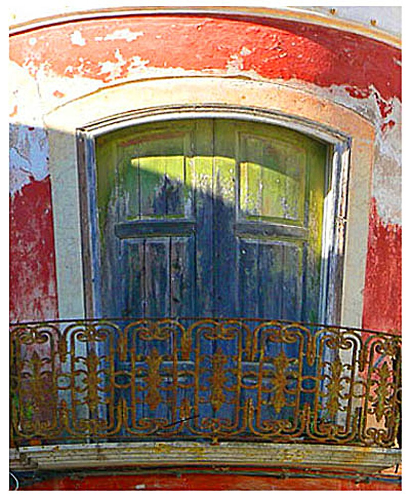 Colourful Window and balcony by avocet