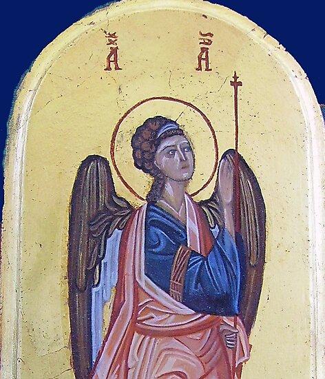 Archangel Gabriel, detail by Ivana Vuckovic
