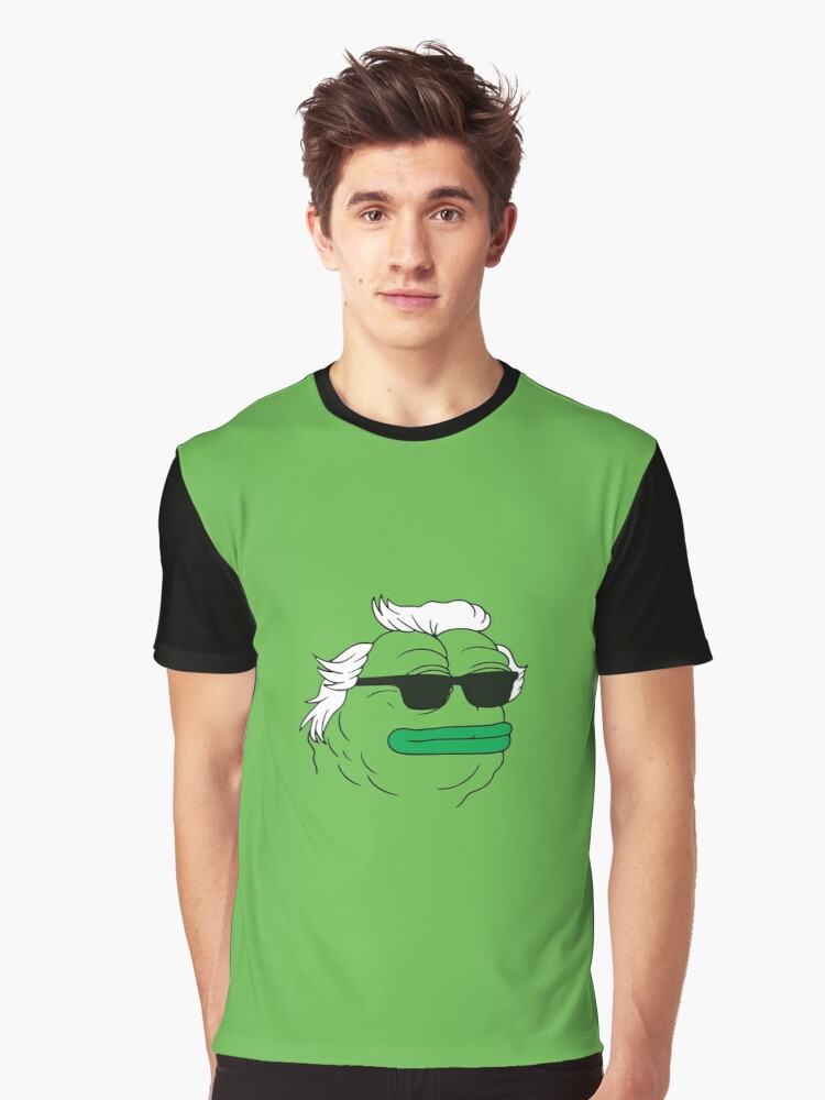 Grand Funky Pepe Graphic T-Shirt Front