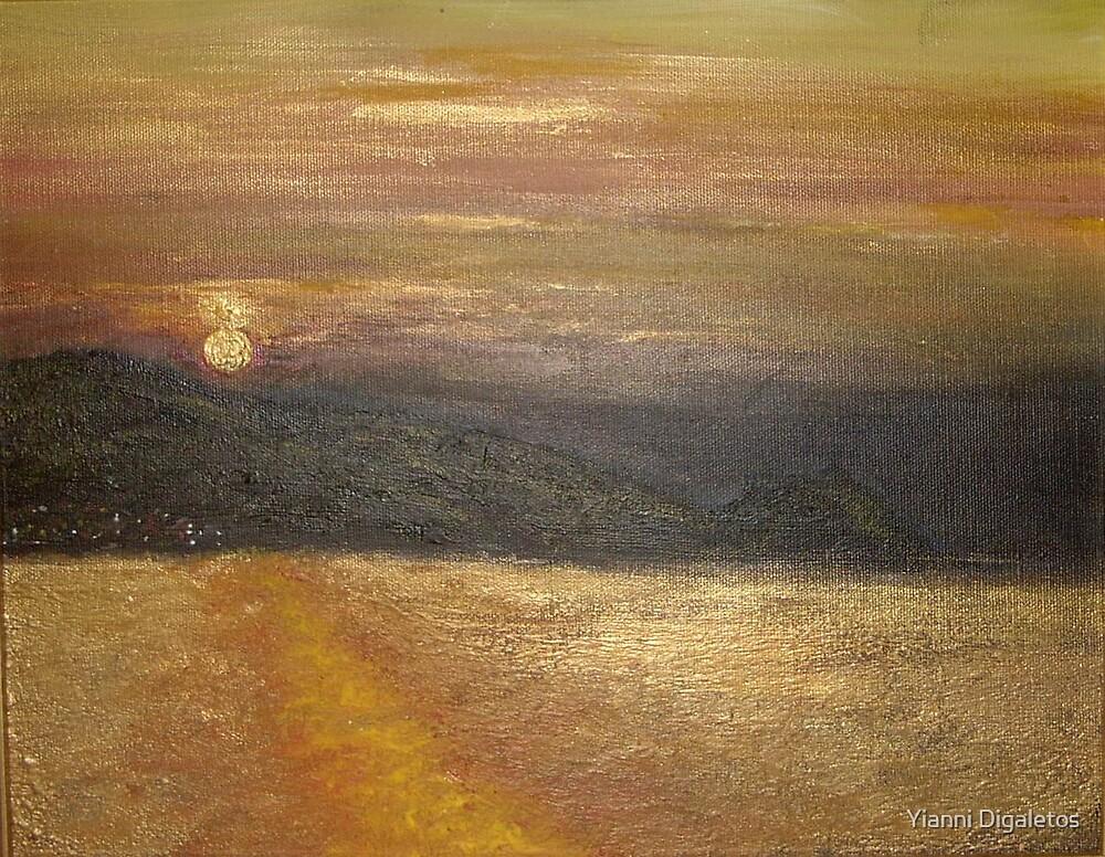 Kefalonia Sunset by Yianni Digaletos