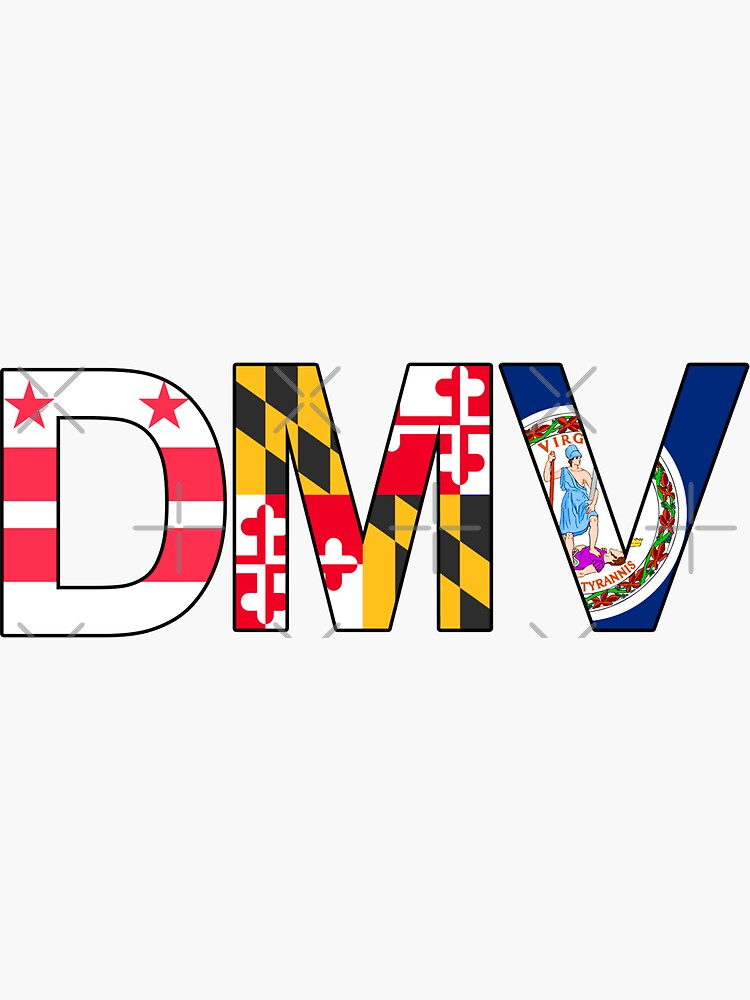 Quot Dmv D C Maryland Virginia Quot Sticker By Magfrench Redbubble