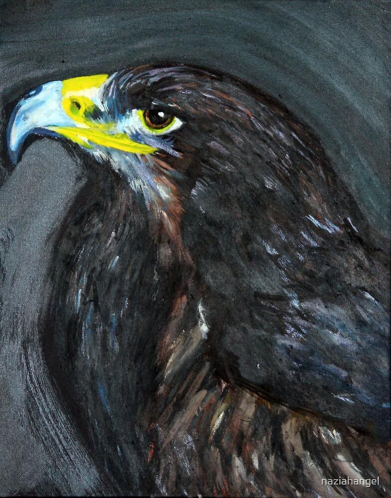 bird of prey portrait by naziahangel