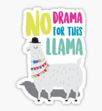 No Drama For This LLama Sticker