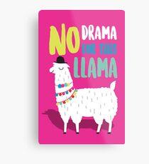No Drama For This LLama Metal Print