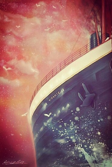 Titanic at sea by EliottChacoco