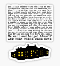 Agatha Christie: And Then There Were None Sticker