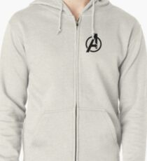 The Avenger Logo Zipped Hoodie