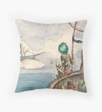The Sky and the Sea Throw Pillow