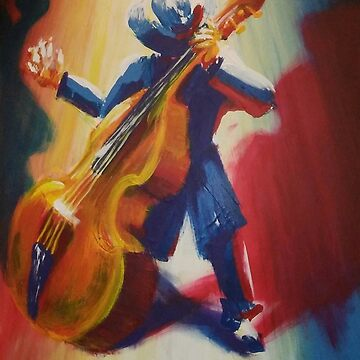 Funky Jazz Acoustic Bass Player by NekarXenos