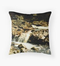 Waterfall in Storm Throw Pillow