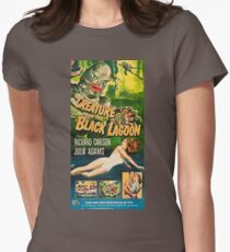 Creature from the Black Lagoon - vintage horror movie poster Women's Fitted T-Shirt