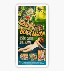 Creature from the Black Lagoon - vintage horror movie poster Sticker