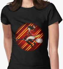 Hogwarts Gryffindor Quidditch Captain - Harry Potter Womens Fitted T-Shirt