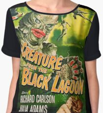 Creature from the Black Lagoon - vintage horror movie poster Women's Chiffon Top