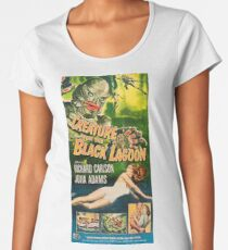 Creature from the Black Lagoon - vintage horror movie poster Women's Premium T-Shirt