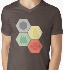 Catan Logos Camiseta de cuello en V