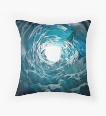 Ice Cave Iceland Throw Pillow