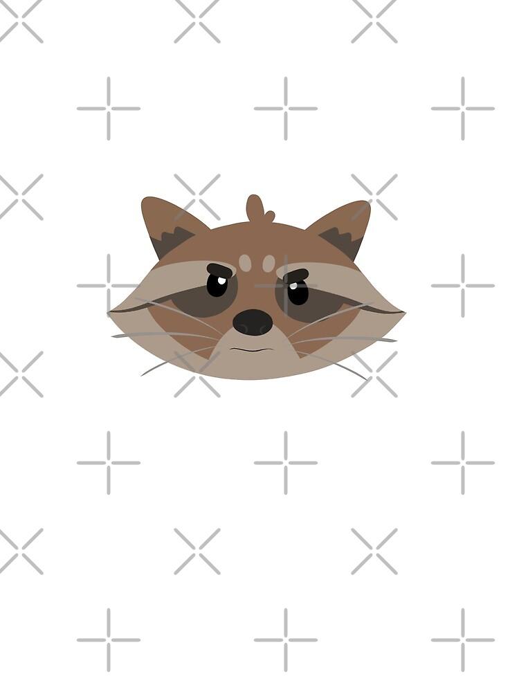 Minimalistic Raccoon by Ohms-n-Wattson