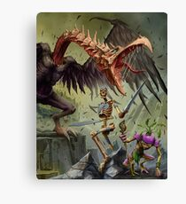 Wayfinder Bestiary Cover Pathfinder Dungeons and Dragons Canvas Print