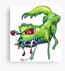 Angry Kitty  Canvas Print