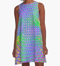 Pattern loud A-Line Dress