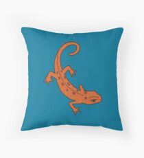 Eastern Red-Spotted Newt Throw Pillow