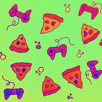 Pizza and Gaming Love by davyruiz