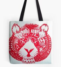 Screen printed Tiger Tote Bag