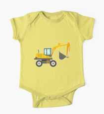 Cute Excavator for Kids One Piece - Short Sleeve