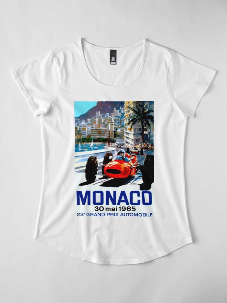 "Alternative Ansicht von ""MONACO GRAND PRIX"" Vintage Auto Racing Print Frauen Premium T-Shirt"