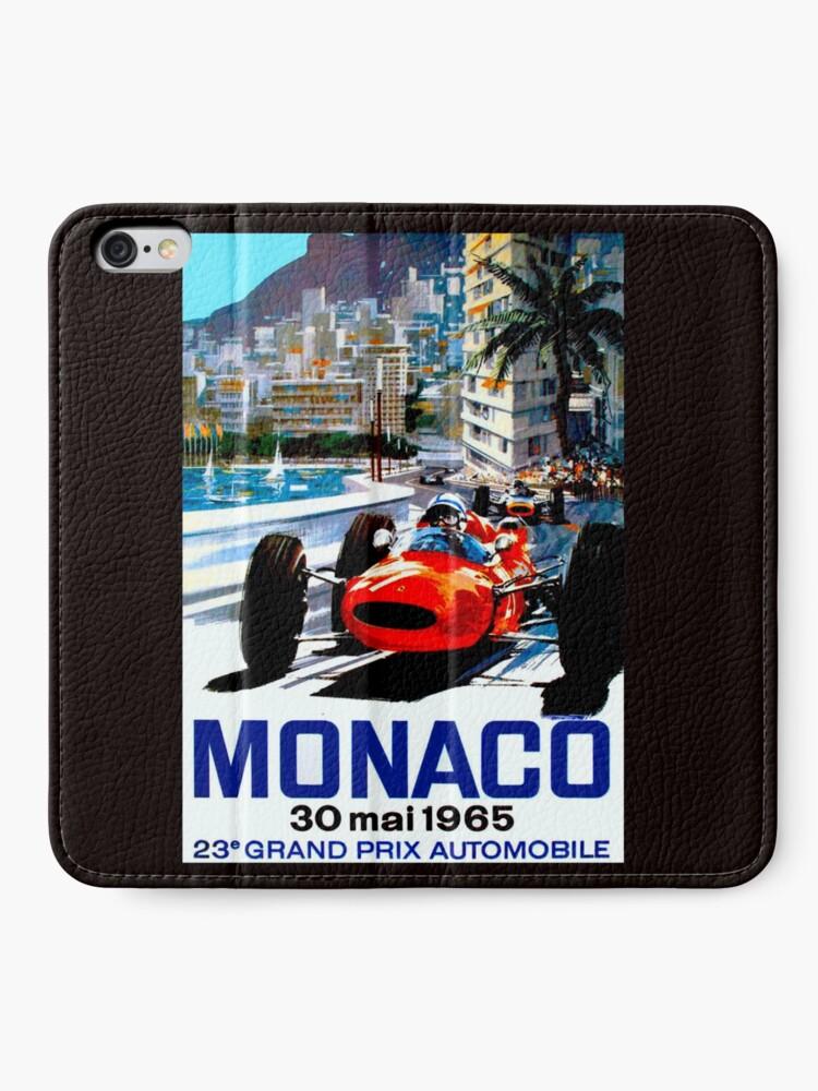 """Alternative Ansicht von """"MONACO GRAND PRIX"""" Vintage Auto Racing Print iPhone Flip-Case"""