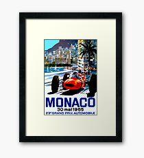 """MONACO GRAND PRIX"" Vintage Auto Racing Print Framed Print"
