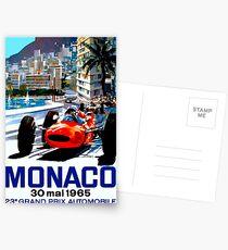 """MONACO GRAND PRIX"" Vintage Auto Racing Print Postkarten"