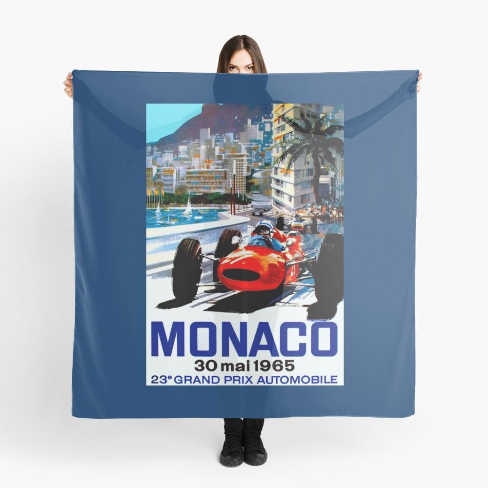 """MONACO GRAND PRIX"" Vintage Auto Racing Print Tuch"