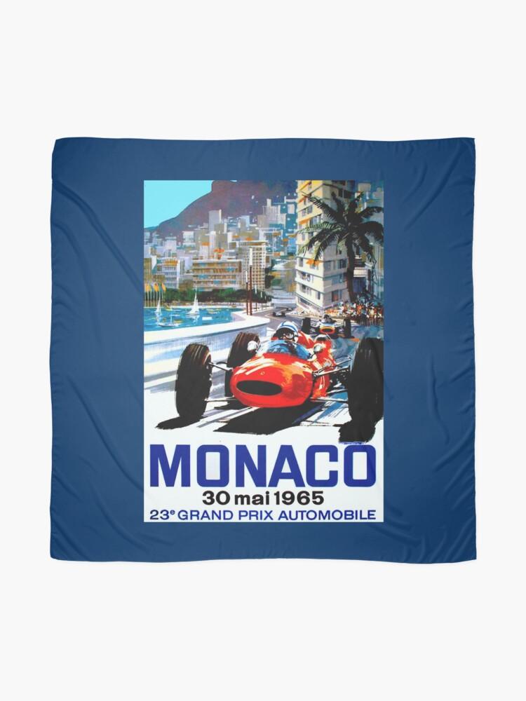 """Alternative Ansicht von """"MONACO GRAND PRIX"""" Vintage Auto Racing Print Tuch"""