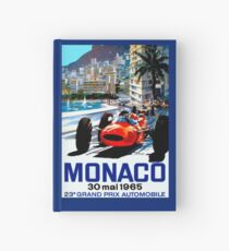 """MONACO GRAND PRIX"" Vintage Auto Racing Print Hardcover Journal"