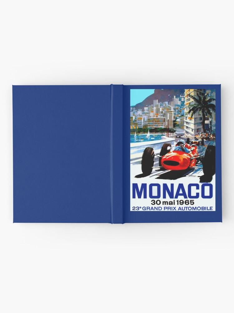 """Alternative Ansicht von """"MONACO GRAND PRIX"""" Vintage Auto Racing Print Notizbuch"""