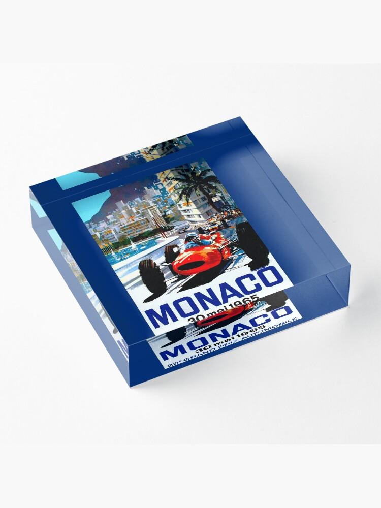 "Alternative Ansicht von ""MONACO GRAND PRIX"" Vintage Auto Racing Print Acrylblock"