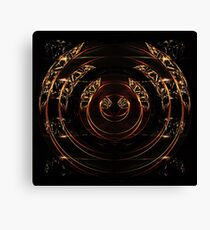 abstract gold and diamonds Canvas Print